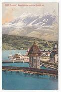 Luzern - Kapellbrücke Und Rigi - Gelaufen 1911 - LU Lucerne