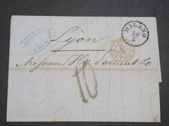 ITALIE - Lettre De Milan Pour La France En 1854 - L 7938 - Sonstige