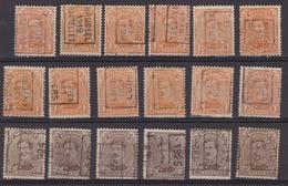 België/Belgique  Preo  Handrol/roulette Samenstelling/composition 18 Zegels/timbres. - Préoblitérés