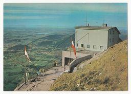 Der Untersberg Bei St. Leonhard - Bergstation Der Untersberg-Seilbahn Mit Blick Auf Salzburg - Ungelaufen - Grödig