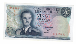 Luxembourg 20 Francs 1966 XF/AUNC - Lussemburgo