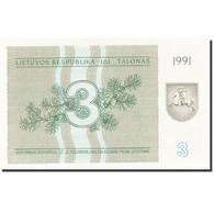 Lithuania, 3 (Talonas), 1991, 1991, KM:33b, SPL - Lituanie