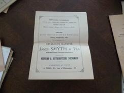 Publicité Agriculture Catalogue Prix Courant 09/1887 Semoirs De James Fils Paris 65 Rue D'Allemagne Dernière Page Trouée - Publicités