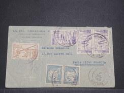 BOLIVIE - Enveloppe De La Paz Pour La France En 1938 , Affranchissement Plaisant- L 7949 - Bolivie