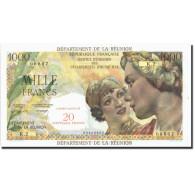 Réunion, 20 Nouveaux Francs On 1000 Francs, Undated (1967-71), KM:55b, SPL - Reunion