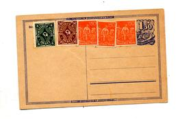 Carte Postale 1.50 Cavalier + Cor + Paysan