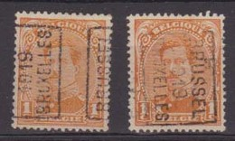 België/Belgique  Preo  Handrol/roulette N°2430 A+B Bussel/Bruxelles 1919 Type I. - Roller Precancels 1910-19