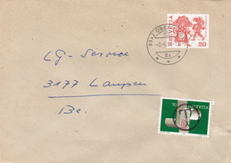Brief Von Oberrieden Nach Laupen, Marke Aus MH, Austaxiert (br1110) - Schweiz