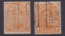 België/Belgique  Preo  Handrol/roulette N°2431 A+B Bussel/Bruxelles 1919 Type I. - Prematasellados