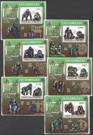 WW16 2009 UNION DES COMORES WILD ANIMALS LES GORILLES 6LUX BL MNH