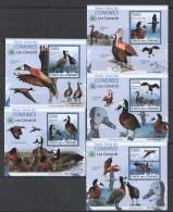 WW60 2009 UNION DES COMORES FAUNA BIRDS LES CANARDS 5LUX BL MNH