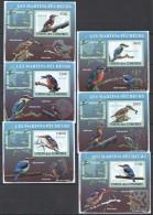 WW76 2009 UNION DES COMORES FAUNA BIRDS LES MARTINS-PECHEUR 6LUX BL MNH