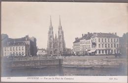 OSTENDE-Vue Sur La Place Du Commerce...  Animé   Estaminet...