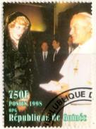 GUINEE GUINEA 1v Used Princess Diana Lady Di With Pape Pope Papst Paul II Juan Pablo II Giovanni Paolo II Johannes Paul