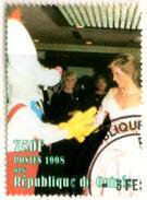 GUINEE GUINEA 1v Used Princess Diana Lady Di With Disney Comic Character