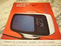 ANCIENNE PUBLICITE PORTAVIA 111 TELEVISION TELEAVIA 1966 - Altri
