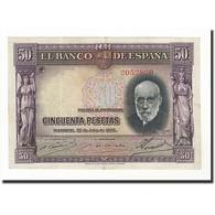 Espagne, 50 Pesetas, 1935, KM:88, 1935-07-22, SUP - [ 2] 1931-1936 : République
