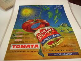 ANCIENNE PUBLICITE TOMATA DE RIVOIRE ET CARRET 1965 - Posters