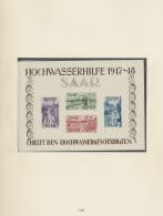 Saarland Und OPD Saarbrücken: 1947/1959, Komplette Postfrische Sammlung Im Vordruckalbum, Dabei Alle Spitzenausgabe