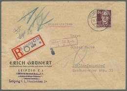 Sowjetische Zone: 1945/1948, Ca. 125 Briefe, Karten Und Ganzsachen, Dabei Einzel- Und Mehrfachfrankaturen, R-Briefe, Aus