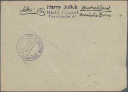 Sowjetische Zone: 1945/1949, Vielseitige Partie Von Ca. 108 Bedarfs-Briefen Und -Karten, Dabei Auch Gebühr Bezahlt,