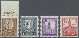 Sowjetische Zone: 1945/1949, überwiegend Postfrische Sammlung Im Alten Safe-Album Beginnend Mit 1/7 B, Mit 150/155