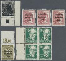 Sowjetische Zone: 1945/1949, Sammlung Mit Dubletten In 3 Alben U. 1 Steckkartenposten, Sehr Viel Geprüfte Marken Ge