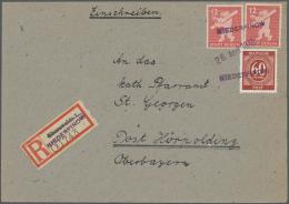 Sowjetische Zone: 1945/1950, Vielseitiger Posten Von Ca. 250 Briefen Und Karten, Eine Nette Mischung Aus Bedarfspost Und