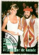 GUINEE GUINEA 1v Used Princess Diana Lady Di With Luciano Pavarotti Music Opera