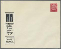 Deutsches Reich - Privatganzsachen: 1933/1944, Interessanter Sammlungsposten Mit Ca. 85 Ungebrauchten Und Gebrauchten Pr