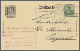 """Deutsches Reich - Privatganzsachen: 1907, Lot Von 23 Privat-Postkarten 5 Pf Germania """"19. Dt. Philatelistentag, Hamburg"""""""