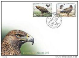 Belarus 2016 Eagles Eagle Birds Bird Fauna Joint Azerbaijan 2v FDC - Belarus