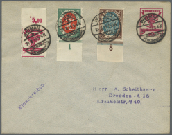 Deutsches Reich - Privatganzsachen: 1900/1923, Ca. 140 Ungebrauchte Und Gebrauchte Privatganzsachen-Umschläge, Dabe