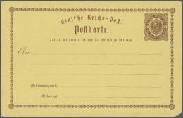 """Deutsches Reich - Privatganzsachen: 1874/1914, Umfangreiche, Ungebrauchte Und Gebrauchte Sammlung """"Privatganzsachenkarte"""