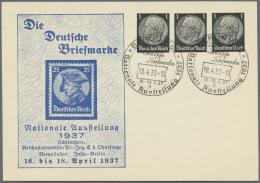 """Deutsches Reich - Privatganzsachen: 1937, Komplette Serie Von 10 Verschiedenen Privat-Postkarten """"Die Deutsche Briefmark"""