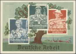 Deutsches Reich - Privatganzsachen: 1933/1942, Sehr Umfangreiche, Ungebrauchte Und Gebrauchte (bzw. Mit SST) Privat-Ganz