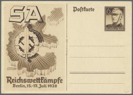 Deutsches Reich - Ganzsachen: 1933/1944, Nationalsozialistische Propaganda, Hier Auf 60 Ungebrauchten Ganzsachen. Neben