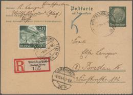 Deutsches Reich - Ganzsachen: 1933/1944, Hochwertige Spezialsammlung Mit 75 Ganzsachenkarten Des III.Reiches In Besonder