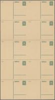 Deutsches Reich - Ganzsachen: 1925, Postkarte 5 Pf Reichsadler, Gezähnt, Im Kpl. Pracht-Schalterbogen Mit 10 Karten