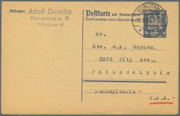 Deutsches Reich - Ganzsachen: 1925/1945. Interessante Sammlung Von 91 Postkarten, Gebraucht Und/oder Ungebraucht. Enthal