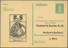 Deutsches Reich - Ganzsachen: 1924/1930, Posten Von 544 Privat-Postkarten Aus PP 84 Bis PP 112, Ungebraucht Und/oder Geb