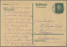 Deutsches Reich - Ganzsachen: 1924/1932, Lot Von 58 Gebrauchten Und Ungebrauchten Ganzsachenkarten, Dabei Frage/Antwort,