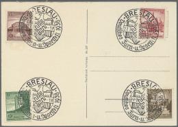 Deutsches Reich - Ganzsachen: 1920/1944 (ca.), Posten Mit über 150 Gelaufenen Postkarten Deutsches Reich In Teils U