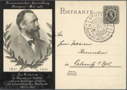 """Deutsches Reich - Ganzsachen: 1919/1932, Interessante, Kleine Ausstellungs-Sammlung """"Amtliche Ganzsachenkarten Und Priva"""