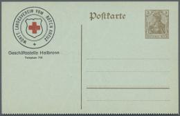 Deutsches Reich - Ganzsachen: 1906/1920, 91 Ganzsachen Mit Wertstempel Germania In Großer Variantenvielfalt. Sowoh