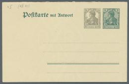 """Deutsches Reich - Ganzsachen: 1902 (ab), Außergewöhnliche Spezialsammlung """"Amtliche Postkarten Mit Zudruck Ge"""