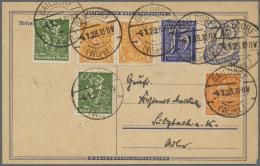 Deutsches Reich - Ganzsachen: 1902/1932, Meist Bis 1923, Vielseitige Partie Von Ca. 200 Gebrauchten Ganzsachen, Alle Mit