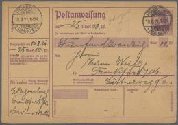 Deutsches Reich - Ganzsachen: 1900/1921, Sammlung Der Postanweisungen A 7 Bis A 47 Meist Ungebraucht, Dabei 9 Gebrauchte