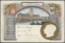 Deutsches Reich - Ganzsachen: 1900/1922, Ca. 50 Germania Privatganszachenkarten Bzw. Karten Mit Privatem Zudruck Gebrauc
