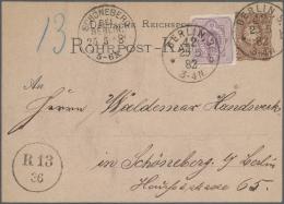 Deutsches Reich - Ganzsachen: 1900/1945, Interessante Partie Von Knapp 200 ROHRPOST-Briefe Und -Karten In BERLIN Gelaufe